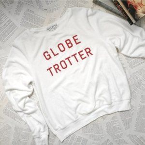 New WILDFOX Globe Trotter Baggy Beach Pullover